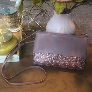 Kate spade pink glitter crossbody Greta court bag
